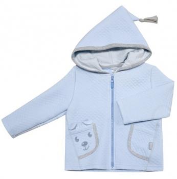 smil Куртка с капюшоном Smil Маленький друг, р.74, капитон, голубой (116271)