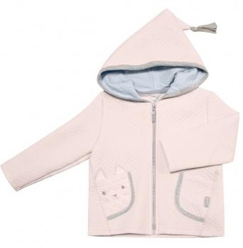 smil Куртка с капюшоном Smil Маленький друг, р.86, капитон, розовый (116271)