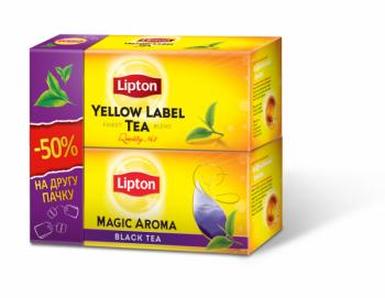 Набор Чай Lipton Yellow Label + Lipton Magic Aroma в пакетиках, 25+25 шт. Lipton