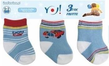 Носки махровые для мальчика YO!, 3-6 мес., голубой, 3 шт. (SKF/3-PAK/BOY/3-6) YO!