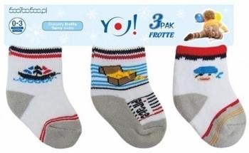 Носки махровые для мальчика YO!, 3-6 мес., серый, 3 шт. (SKF/3-PAK/BOY/3-6) YO!