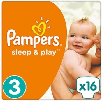 Подгузники Pampers Sleep&Play Midi 3 (4-9 кг) 16 шт.+Подарок (Pampers Premium Care Midi, 2 шт.) - Pampik