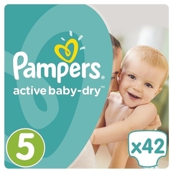 Подгузники Pampers Active Baby-Dry Junior 5 (11-18 кг), 42 шт. Pampers