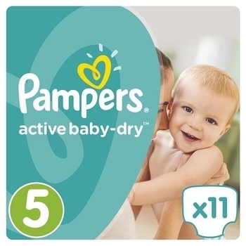 Подгузники Pampers Active Baby-Dry Junior 5 (11-18 кг) MICRO PACK 11 шт. - Pampik