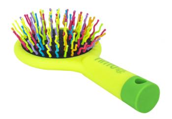 Щетка для волос Tinto силиконовая, желтый/зеленый Tinto