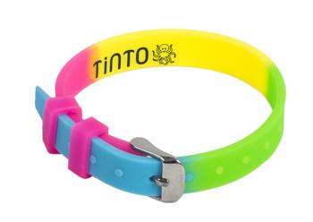 Браслет силиконовый Tinto, 4 цвета (розовый, желтый, салатовый, голубой)