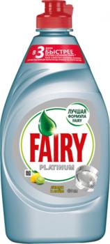 Средство для мытья посуды Fairy Platinum Лимон и лайм 430 мл Fairy