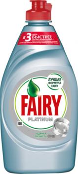 Средство для мытья посуды Fairy Platinum Ледяная свежесть, 430 мл Fairy