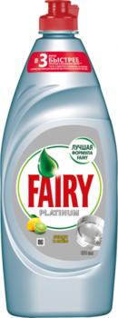 Средство для мытья посуды Fairy Platinum Лимон и лайм 650 мл Fairy