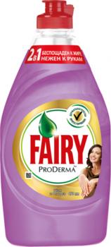 Средство для мытья посуды Fairy ProDerma Шелк и Орхидея, 450 мл Fairy