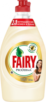 Средство для мытья посуды Fairy ProDerma Алоэ Вера и Кокос, 450 мл Fairy