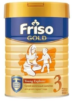 Молочная смесь Friso Фрисолак Gold 3, 800 г Friso