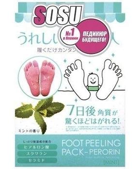 Носки для педикюра Sosu с ароматом мяты Sosu