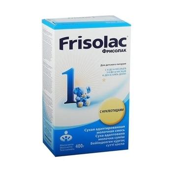 Сухая детская молочная смесь Фрисолак 1 с нуклеотидами от Friso, 400 г Friso