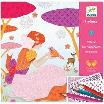 Художественный комплект для рисования карандашами Djeco Красивые платья (DJ08985) Djeco