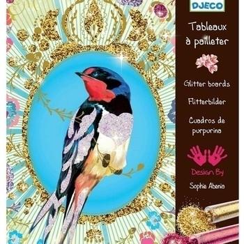 Художественный комплект для рисования блестками Djeco Птицы с блестками (DJ09501) Djeco