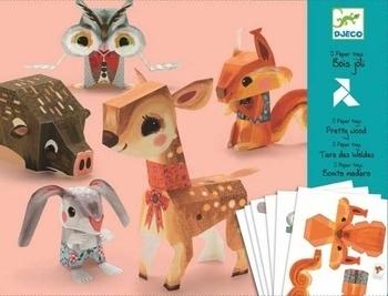 Художественный комплект оригами Djeco Лесные животные (DJ09674) Djeco