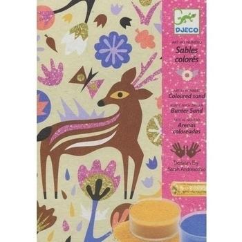 Набор для рисования цветным песком Djeco Чудеса леса (DJ08662) Djeco