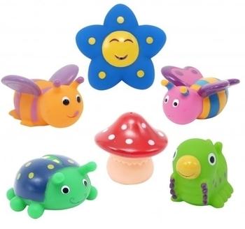 Набор игрушек для ванны Baby Team Друзья на полянке, 6 шт. Baby Team