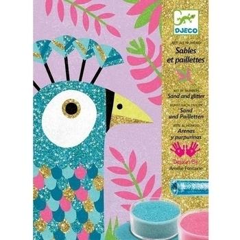 Набор для рисования цветным песком Djeco Ослепительные птицы (DJ08663) Djeco