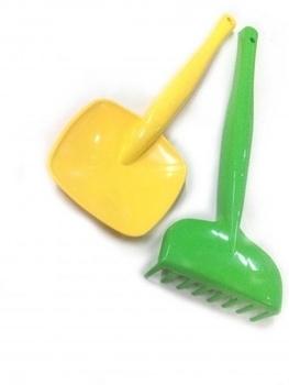 Детская лопатка и грабли Tigres, зеленый с желтым (39026) Tigres
