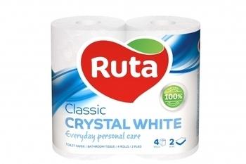 Двухслойная туалетная бумага Ruta Classic, белый, 4 рулона Ruta