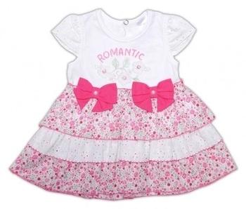 garden baby Боди-платье Garden Baby Цветочный автомобильчик, ситец, р.80, белый с розовым (19346-16)