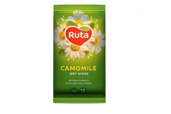 Влажные салфетки Ruta Selecta с экстрактом ромашки, 15 шт. Ruta