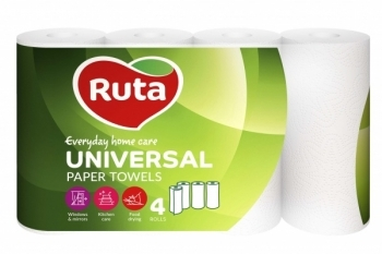 Бумажные полотенца Ruta Universal, 4 рулона Ruta