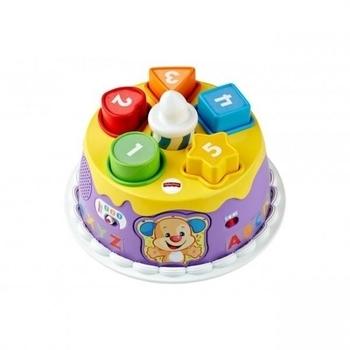 Интерактивная игрушка Fisher-Price Праздничный торт с технологией Smart Stages (русский, английский) Fisher-Price