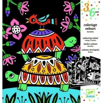 Купить Раскраски и творчество, Художественный комплект для рисования Djeco Забавные животные (DJ09624)