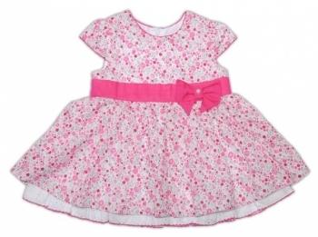garden baby Платье Garden Baby Цветочный автомобильчик, ситец, р.80, белый с розовым (45040-12)