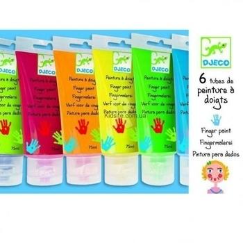 Набор пальчиковых красок Djeco, 6 цветов (DJ08860) Djeco
