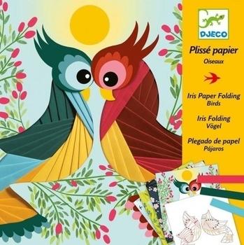 Художественный комплект Djeco декорирование гофрированной бумагой Птицы (DJ09443) Djeco