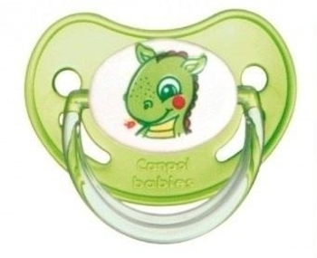 Латексная анатомическая пустышка Canpol Babies от 18 мес., зеленый (22/605) Canpol babies