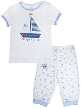 smil Пижама Smil Маленький моряк, ажурный ластик, р.68, белый (104232)