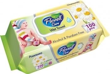 Влажные салфетки Flovell Care Ромашка, 100 шт. Flovell