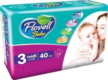 Подгузники Flovell Baby Midi (4-9 кг), 40 шт. Flovell