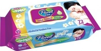 Влажные салфетки Flovell Care Fresh, 72 шт. Flovell