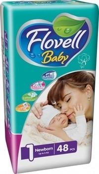 Подгузники Flovell Baby Newborn 1 (0-5 кг), 48 шт. Flovell