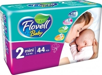 Подгузники Flovell Baby Mini (3-6 кг), 44 шт. Flovell