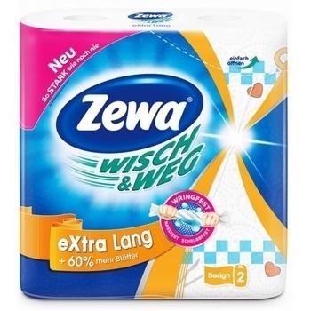 Бумажные полотенца Zewa Wisch&Weg Design, 2 рулона Zewa