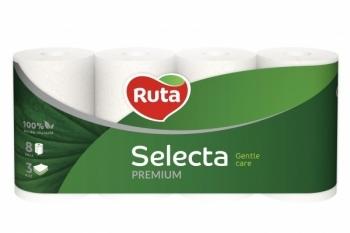 Трехслойная туалетная бумага Ruta Selecta Premium, 8 рулонов Ruta