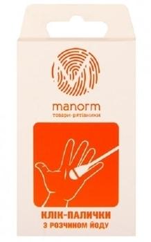 Клик-палочки Manorm с раствором йода, 20 шт. Manorm