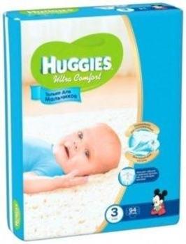 Подгузники Huggies Ultra Comfort для мальчиков 3 (5-9 кг) GIGA PACK 94 81823988b80