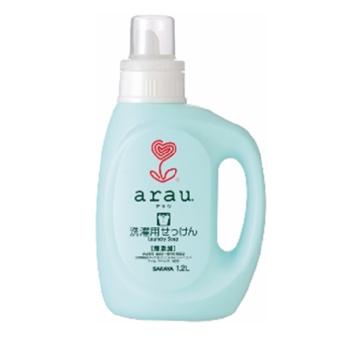 arau Жидкость для стирки Arau с ароматом герани, для белых и цветных тканей, 1,2 л 30811