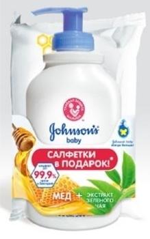 Детское жидкое мыло JOHNSON'S® Baby Pure Protect™ 2-в-1, 300 мл + Влажные салфетки JOHNSON'S® Baby JOHNSON'S® Baby