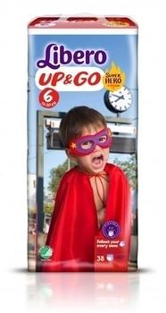 Подгузники-трусики Libero Up&Go Hero Collection, размер 6 (13-20 кг), 38 шт. Libero