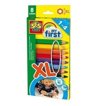 Купить со скидкой Набор восковых цветных карандашей Ses Creative My first Радуга, 8 цветов (14416S)
