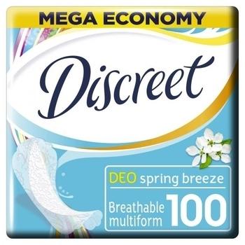 Ежедневные прокладки Discreet Deo Spring Breeze Multiform, 100 шт. Discreet